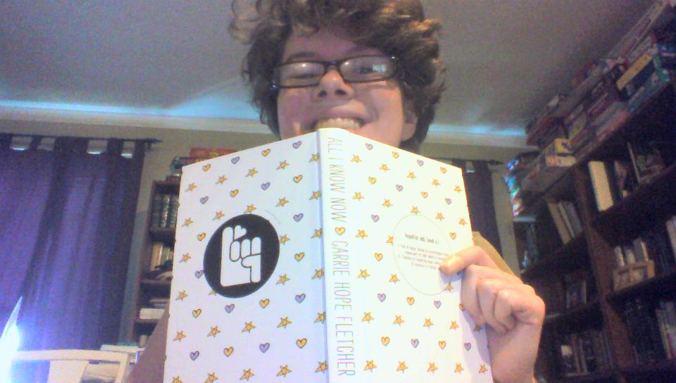 Picture of Me with the book minus the book jacket